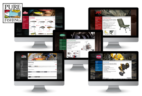 catalogue web multi-marque Pure Fishing